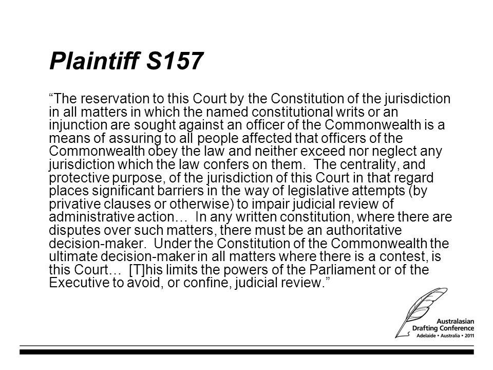 Plaintiff S157