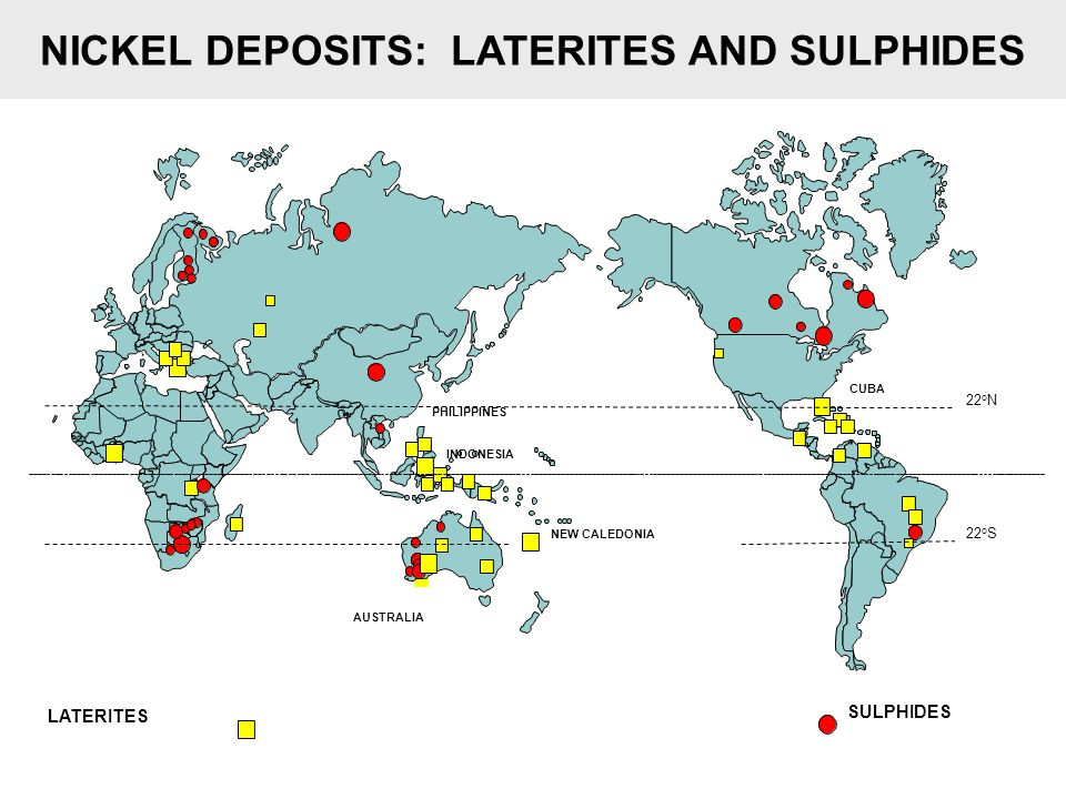 NICKEL DEPOSITS: LATERITES AND SULPHIDES