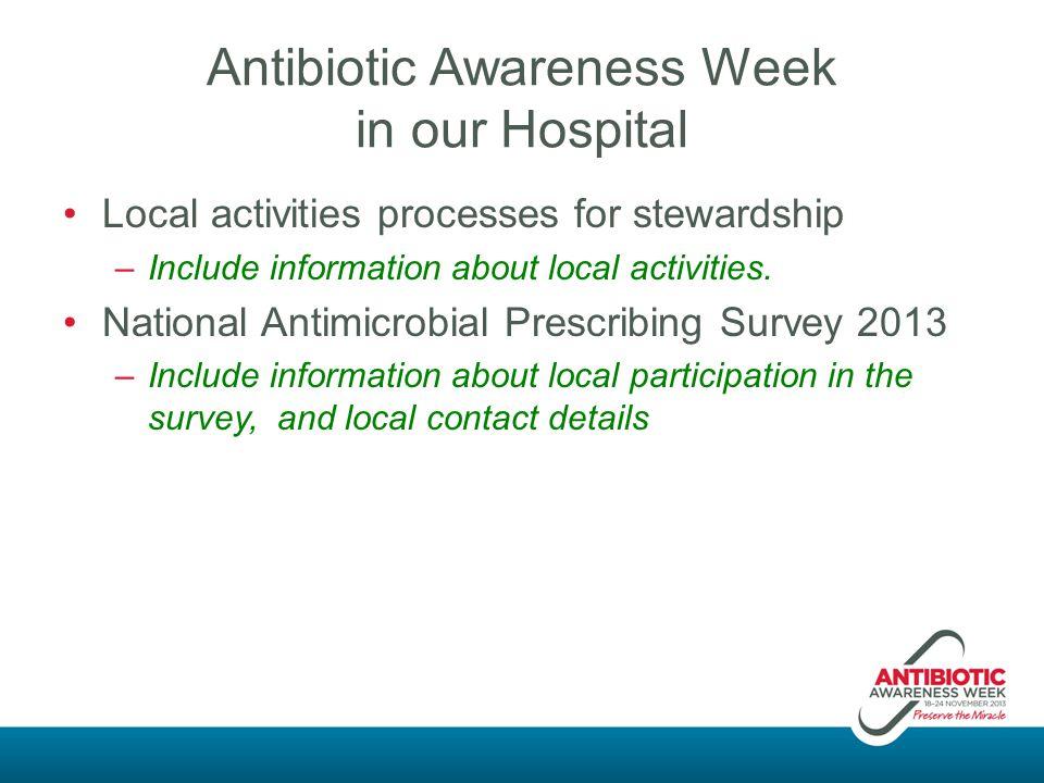 Antibiotic Awareness Week in our Hospital