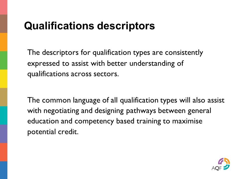 Qualifications descriptors