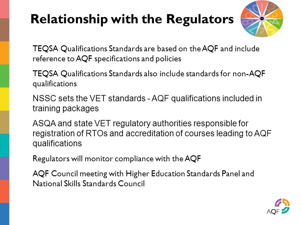 Relationship with the Regulators