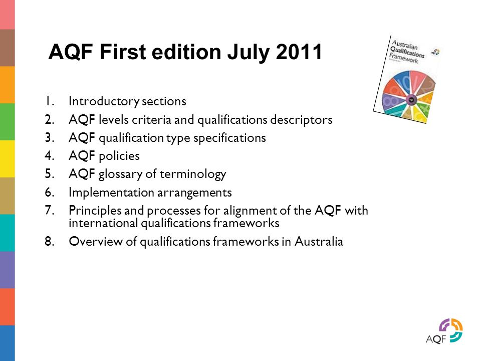 AQF First edition July 2011 Introductory sections