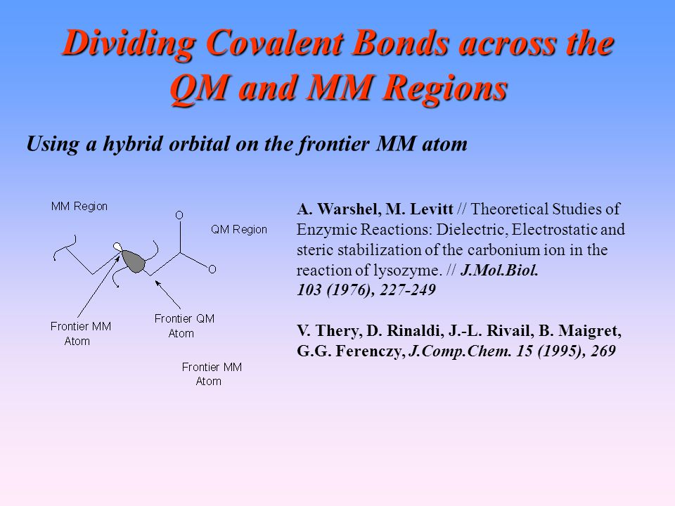 Dividing Covalent Bonds across the QM and MM Regions