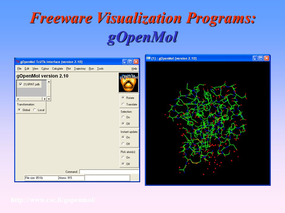 Freeware Visualization Programs: gOpenMol