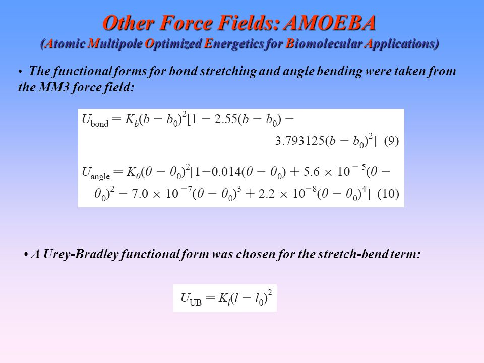 Other Force Fields: AMOEBA