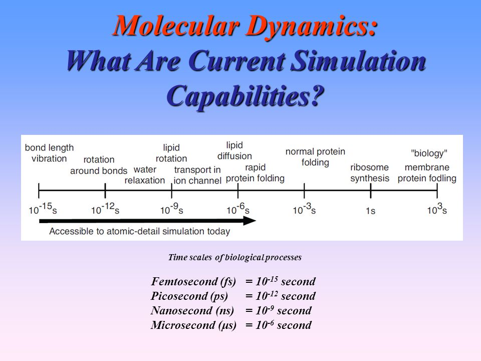 Molecular Dynamics: What Are Current Simulation Capabilities