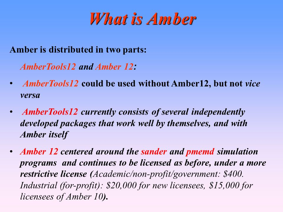 What is Amber Amber is distributed in two parts: