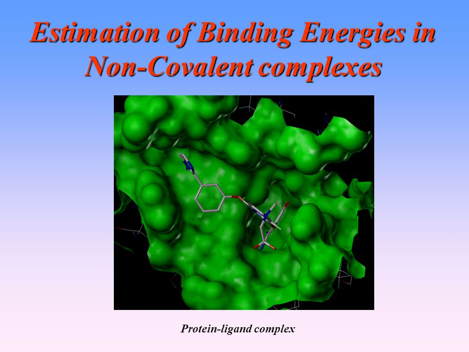 Estimation of Binding Energies in Non-Covalent complexes