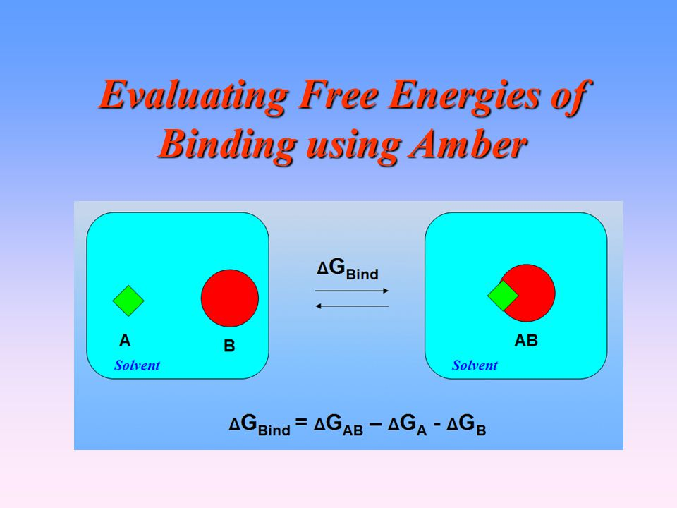 Evaluating Free Energies of Binding using Amber