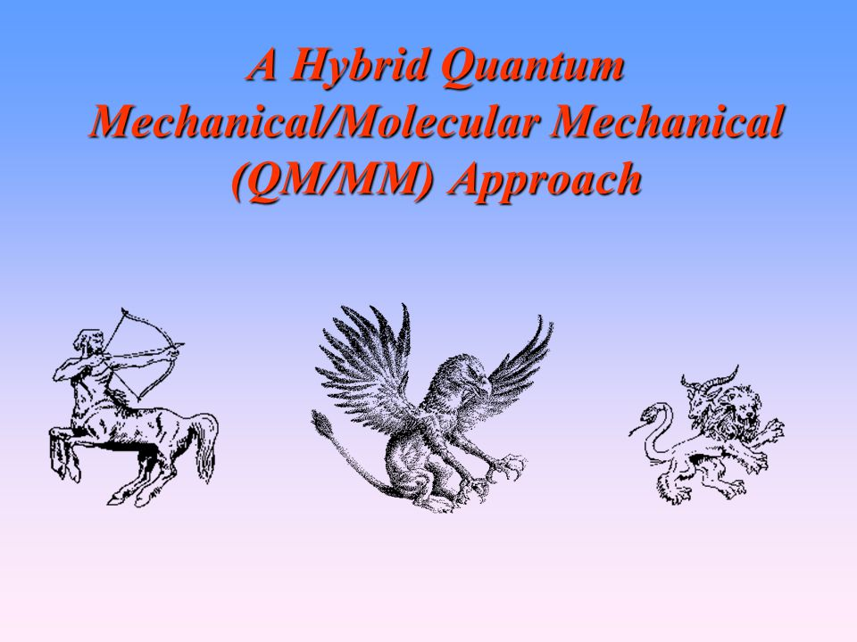 A Hybrid Quantum Mechanical/Molecular Mechanical (QM/MM) Approach