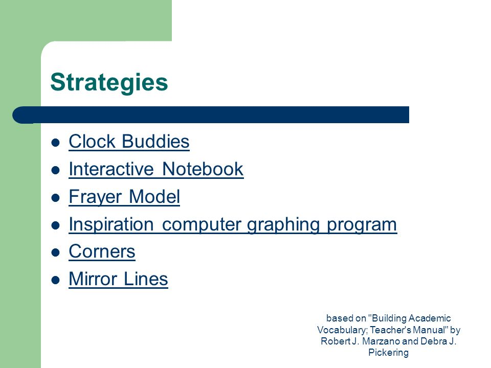 Strategies Clock Buddies Interactive Notebook Frayer Model