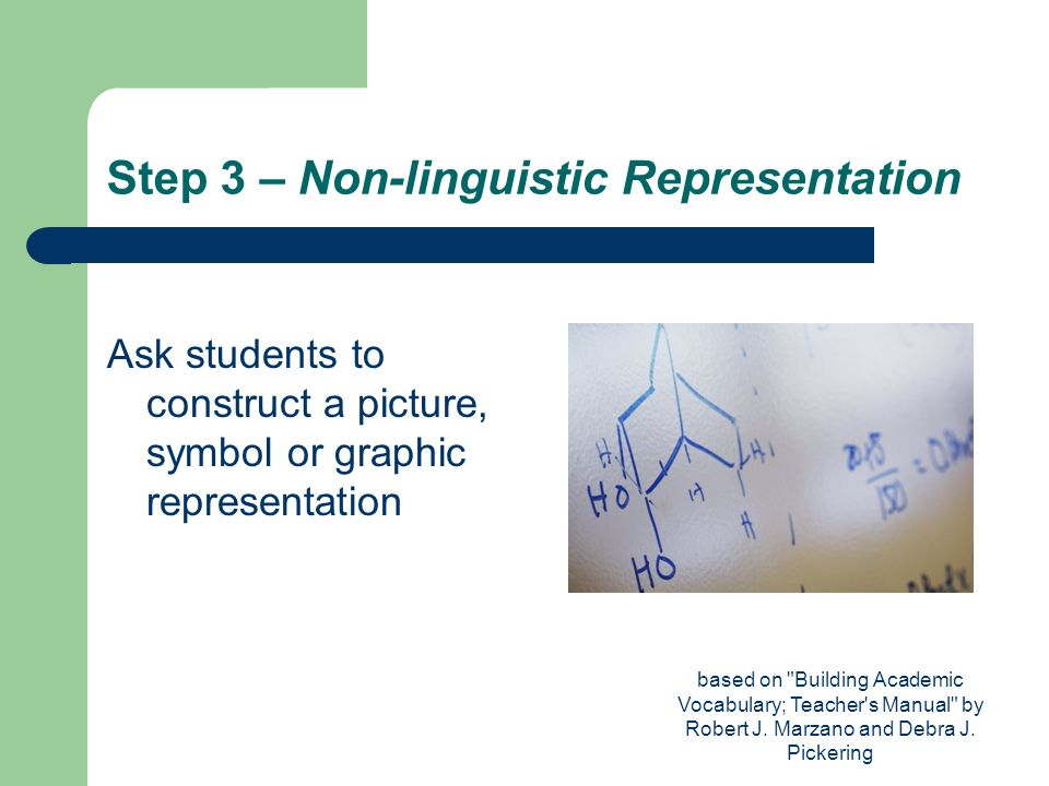 Step 3 – Non-linguistic Representation