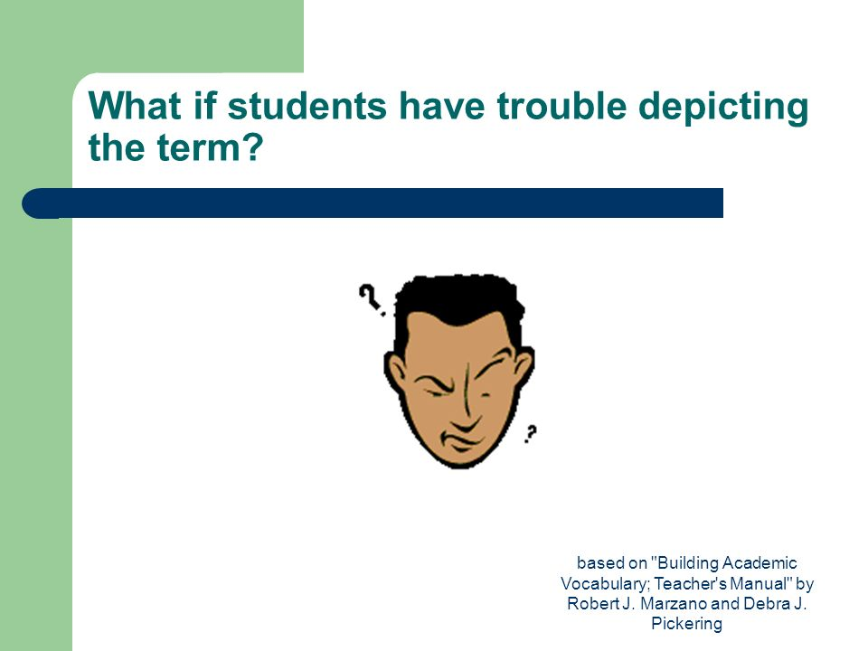 What if students have trouble depicting the term