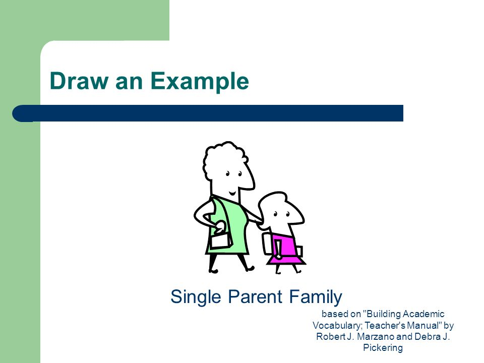 Draw an Example Single Parent Family