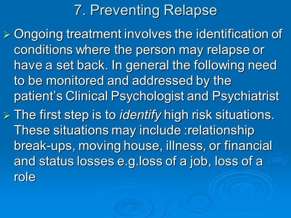 7. Preventing Relapse
