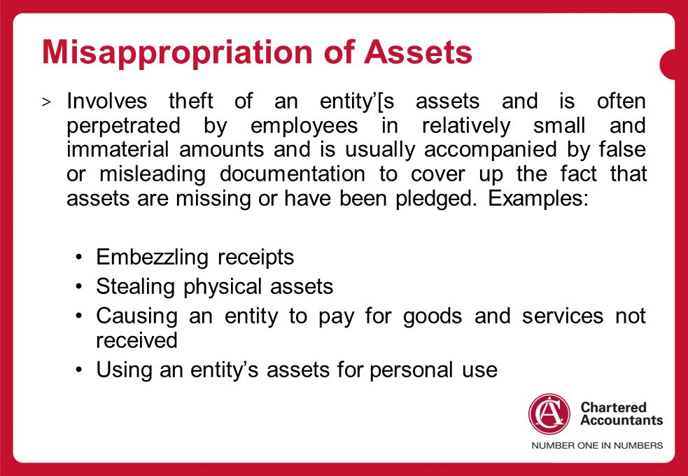 Misappropriation of Assets