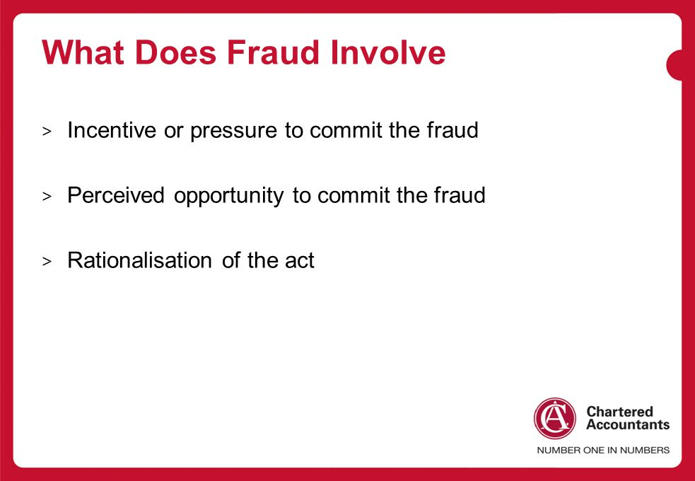 What Does Fraud Involve