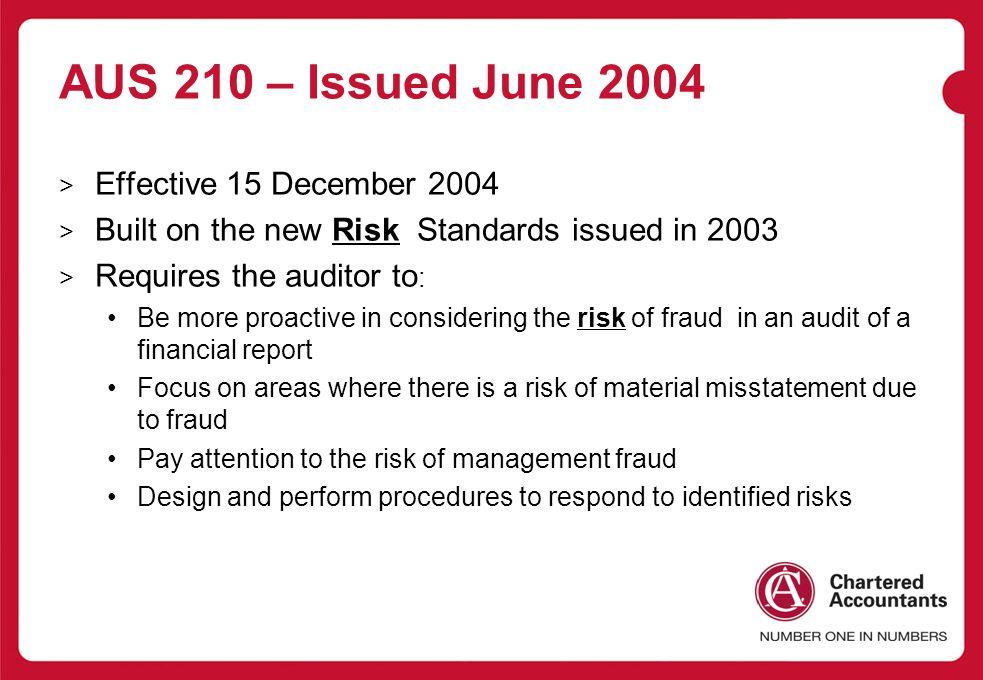 AUS 210 – Issued June 2004 Effective 15 December 2004