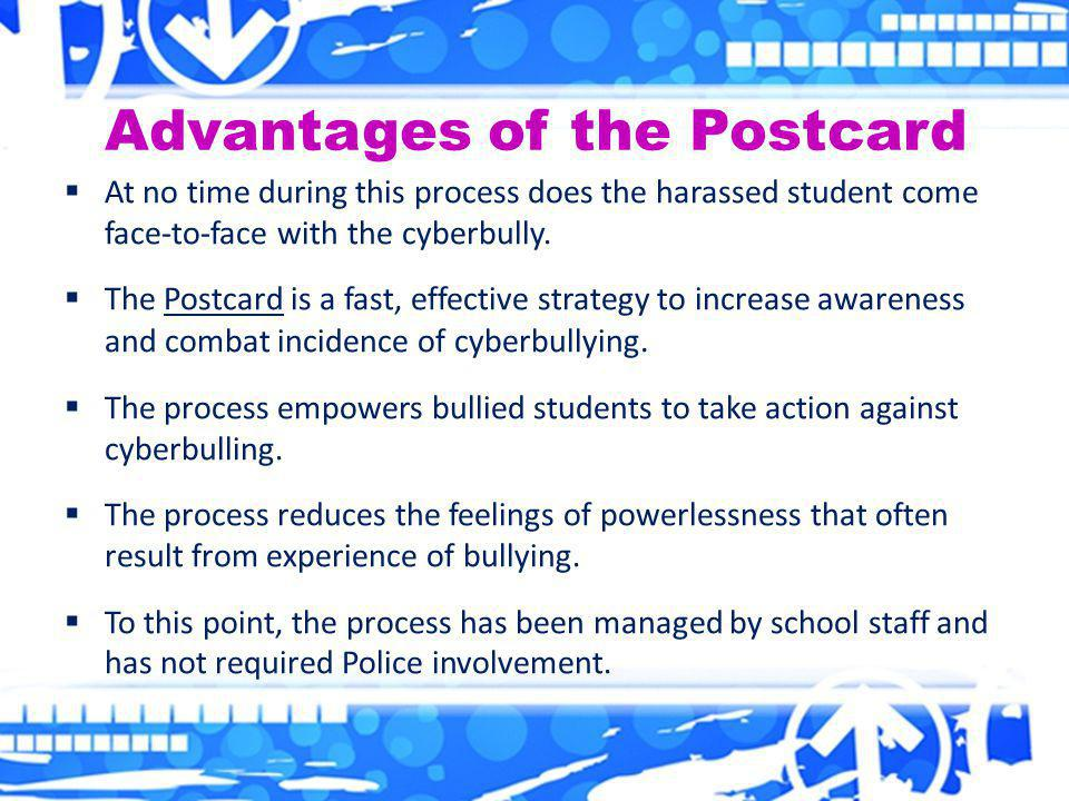 Advantages of the Postcard