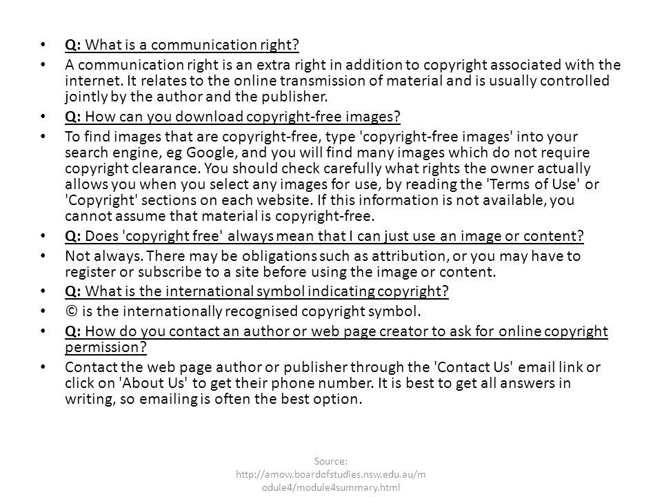 Q: What is a communication right