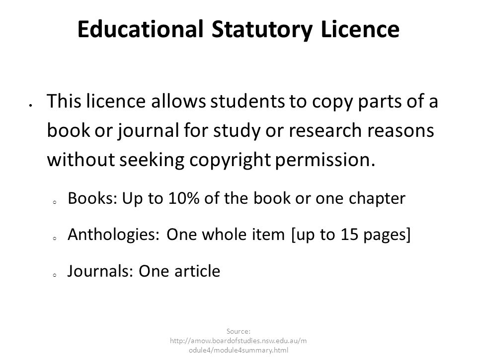 Educational Statutory Licence