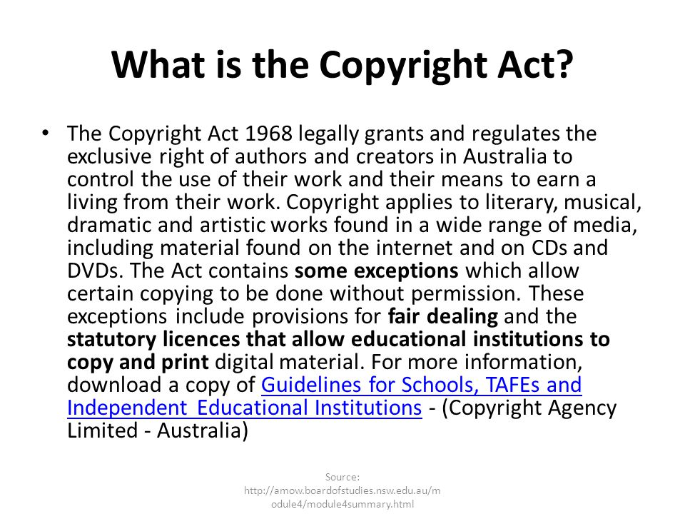 What is the Copyright Act
