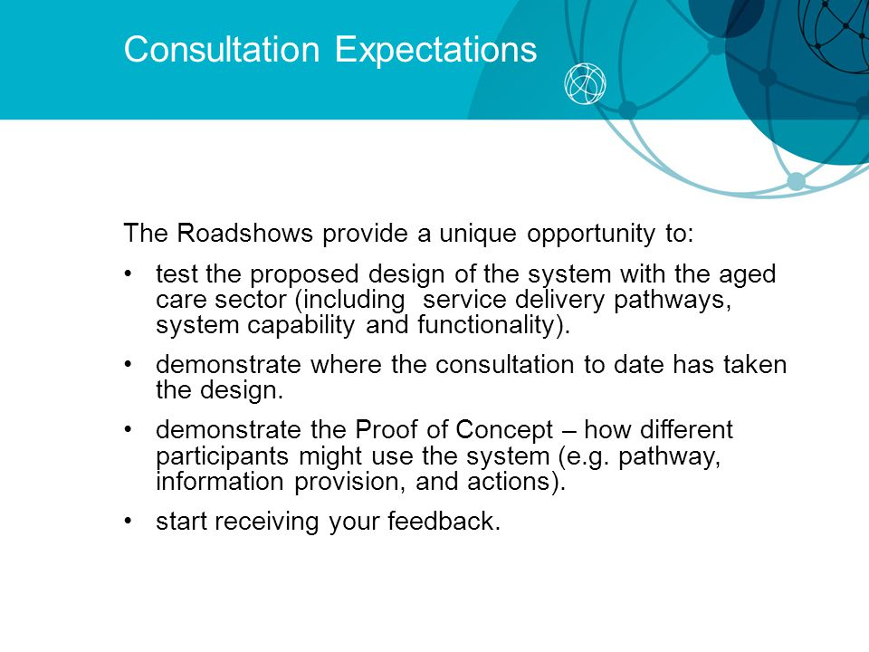 Consultation Expectations