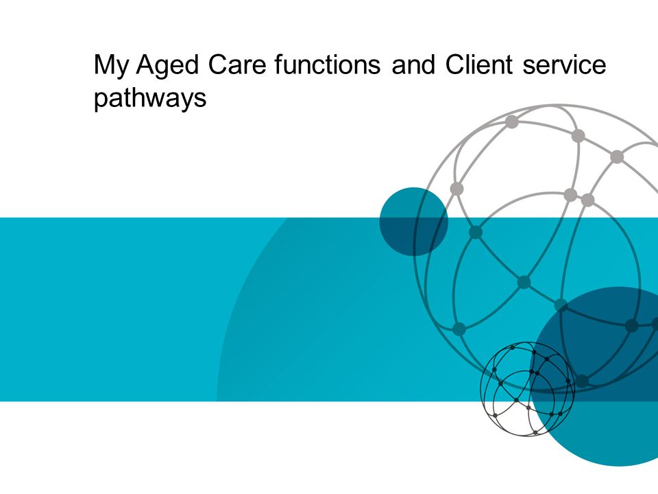 My Aged Care functions and Client service pathways