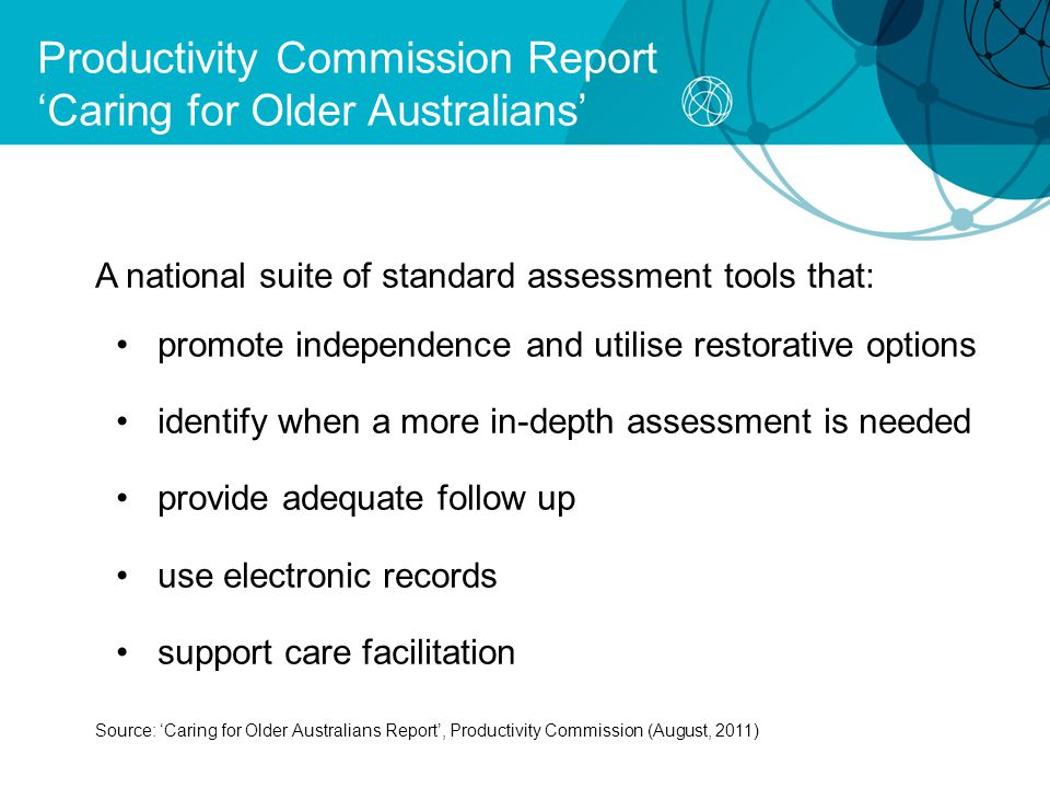 Productivity Commission Report 'Caring for Older Australians'