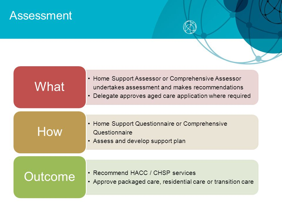 What How Outcome Assessment