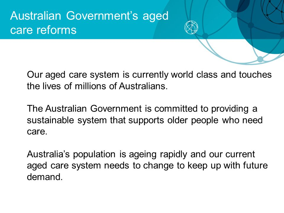 Australian Government's aged care reforms