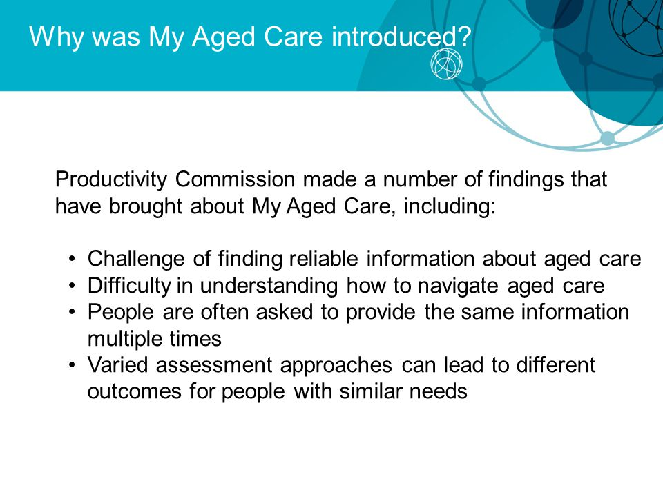 Why was My Aged Care introduced