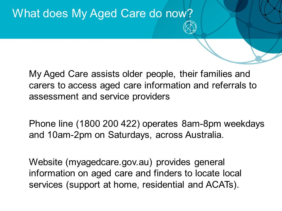 What does My Aged Care do now