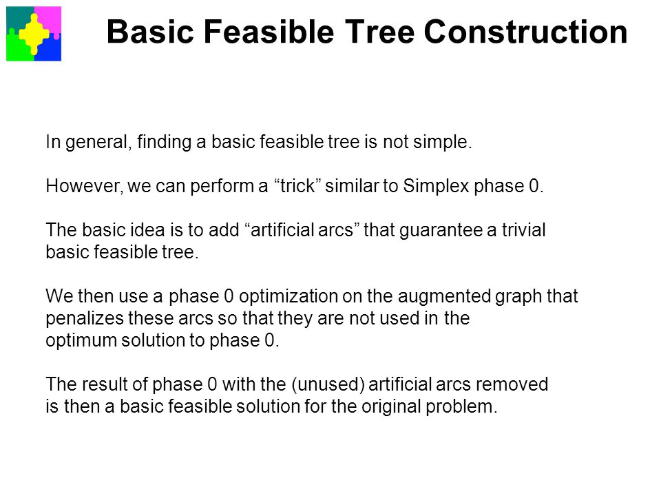 Basic Feasible Tree Construction