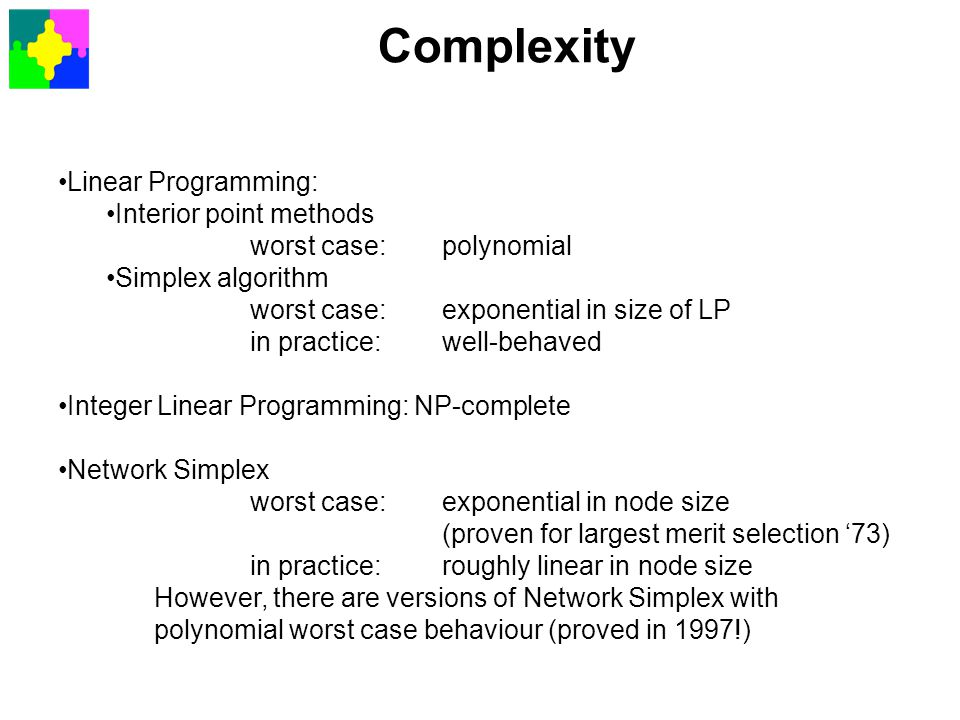 Complexity Linear Programming: Interior point methods