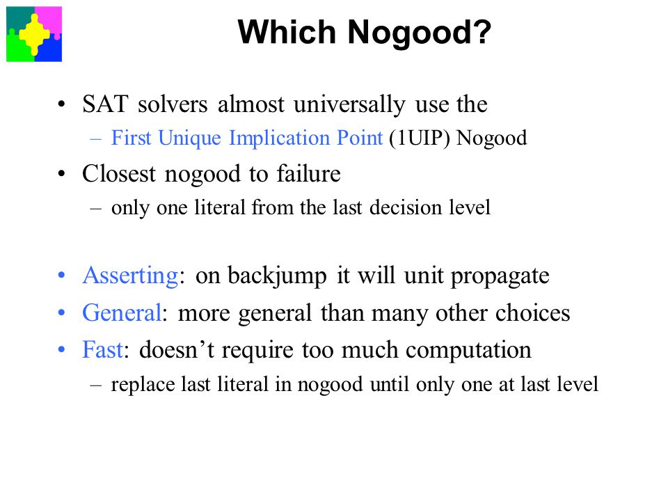 Which Nogood SAT solvers almost universally use the
