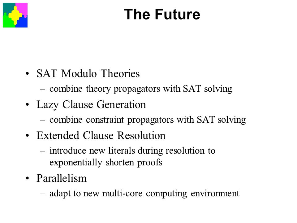 The Future SAT Modulo Theories Lazy Clause Generation