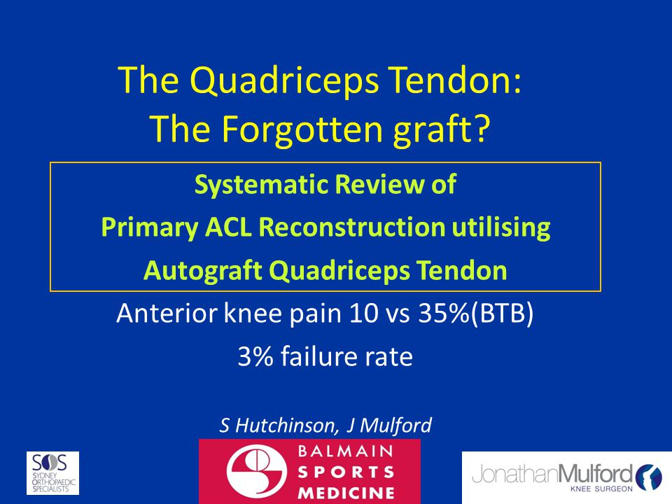 Primary ACL Reconstruction utilising
