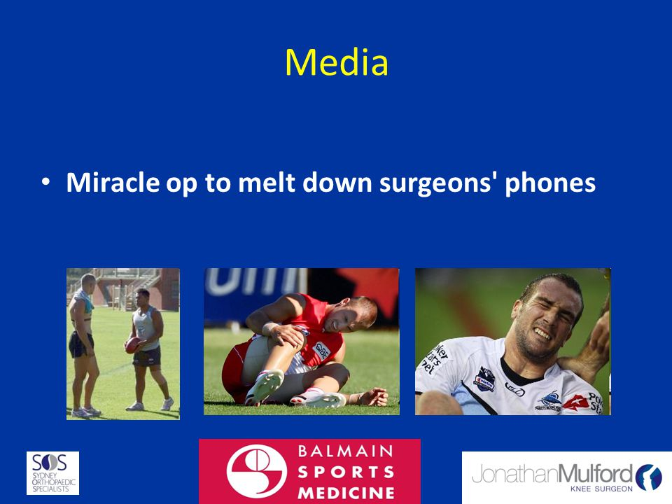 Media Miracle op to melt down surgeons phones 21