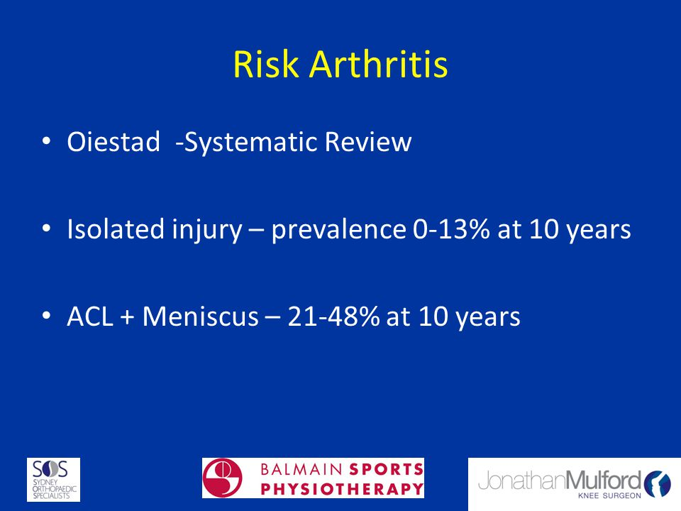 Risk Arthritis Oiestad -Systematic Review
