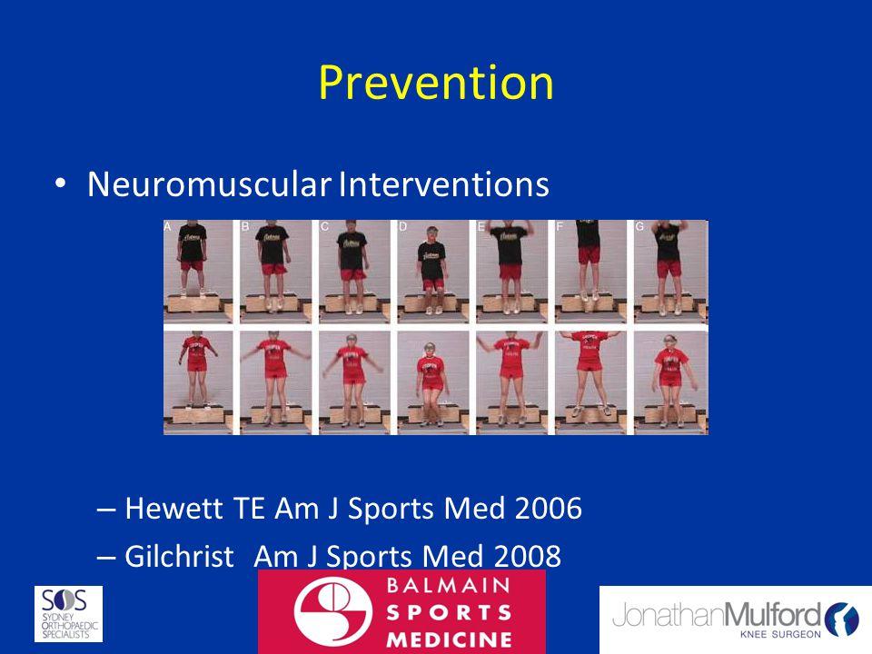 Prevention Neuromuscular Interventions Hewett TE Am J Sports Med 2006