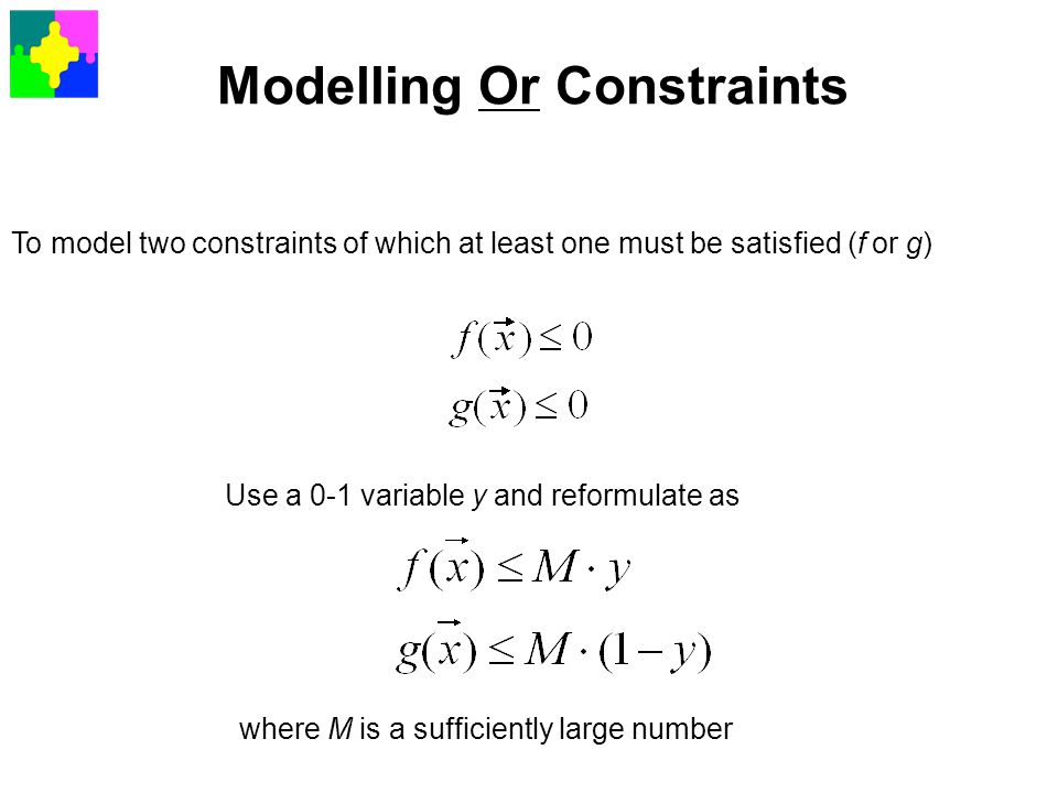 Modelling Or Constraints