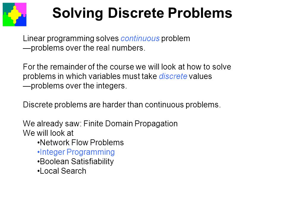 Solving Discrete Problems