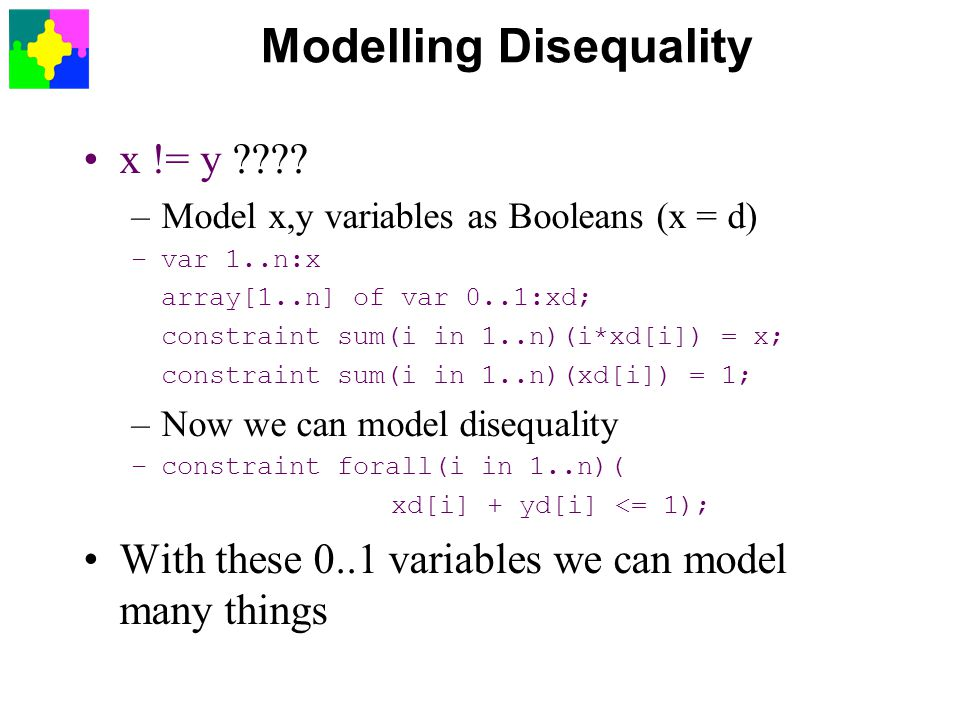 Modelling Disequality