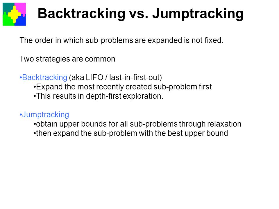Backtracking vs. Jumptracking