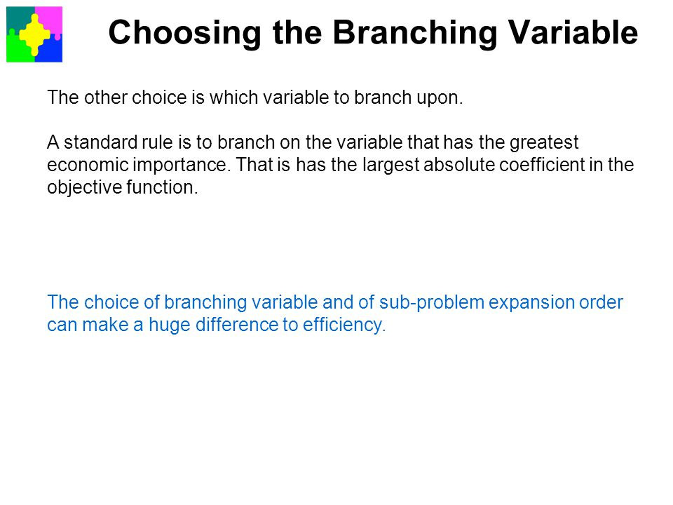 Choosing the Branching Variable