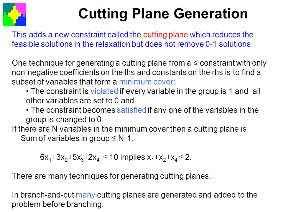 Cutting Plane Generation