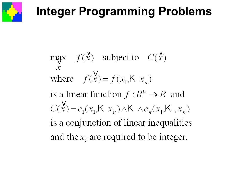 Integer Programming Problems