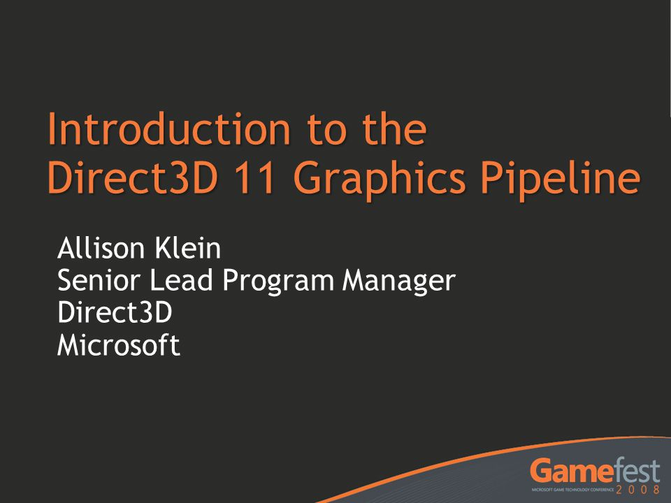 Introduction to the Direct3D 11 Graphics Pipeline