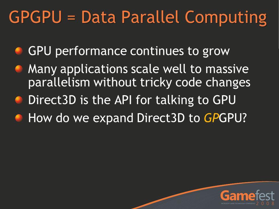 GPGPU = Data Parallel Computing